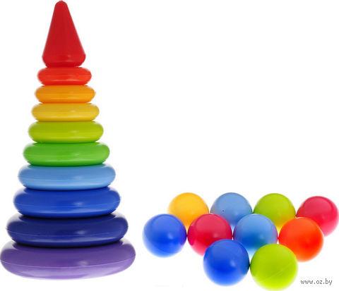"Игровой набор ""Радуга Макси"" (пирамидка и мячики)"