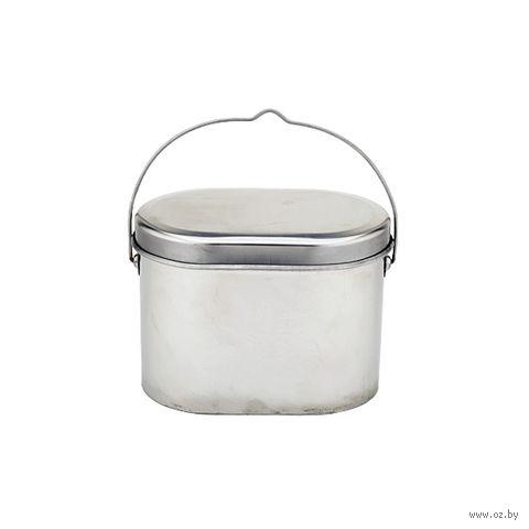 Котелок нержавеющий с крышкой (4,5 литра)