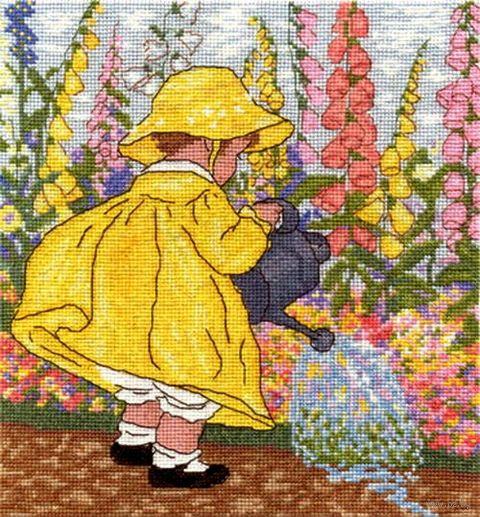 """Вышивка крестом """"Маленькая помощница"""" (230x245 мм) — фото, картинка"""