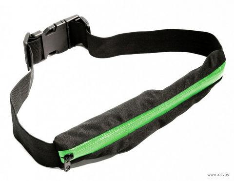Ремень-кошелек эластичный (зелёный) — фото, картинка
