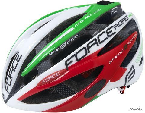 """Шлем велосипедный """"Road Pro"""" (бело-зелёно-красный; р. S-M) — фото, картинка"""