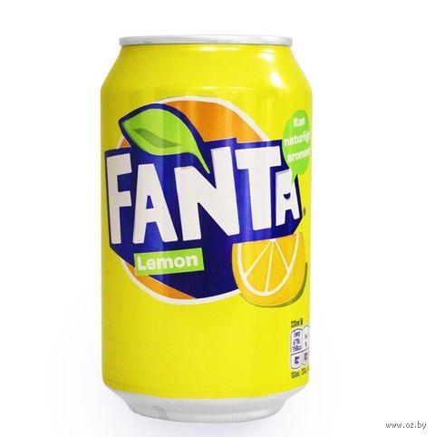 """Напиток газированный """"Fanta. Лимон"""" (330 мл) — фото, картинка"""