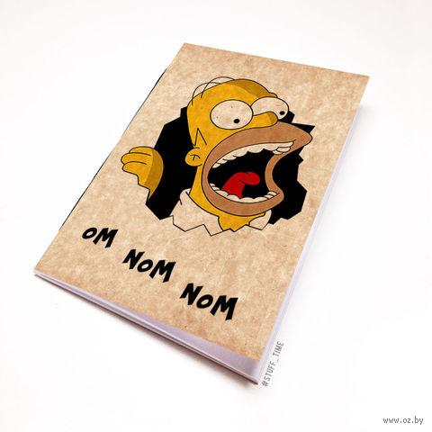 """Блокнот крафт """"Гомер Симпсон"""" А6 (497)"""