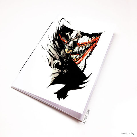 "Блокнот белый ""Бетмен и Джокер"" А5 (046)"