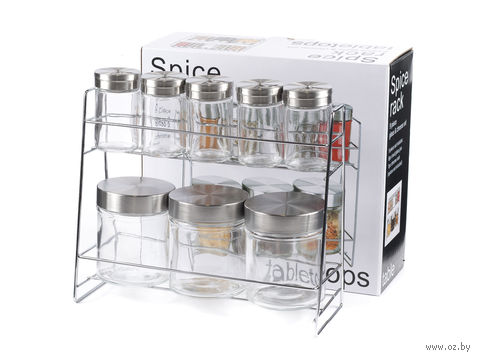 Набор банок для сыпучих продуктов и специй (8 шт.) — фото, картинка