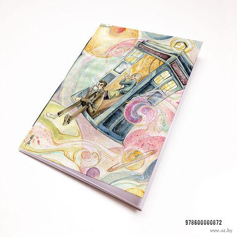 "Блокнот белый ""Доктор Кто"" А7 (872)"