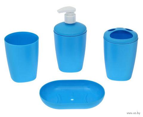 """Набор аксессуаров для ванной комнаты """"Aqua"""" (голубая лагуна) — фото, картинка"""