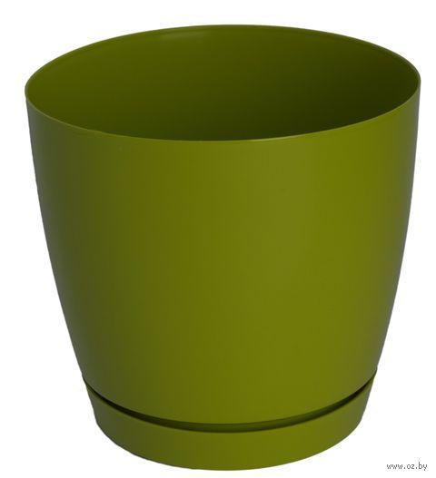 """Цветочный горшок """"Тоскана"""" (17 см; оливковый) — фото, картинка"""