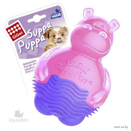 """Игрушка для собак с пищалкой """"Бегемотик"""" (10 см) — фото, картинка"""