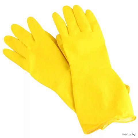 """Перчатки хозяйственные резиновые """"York"""" (S; 1 пара) — фото, картинка"""
