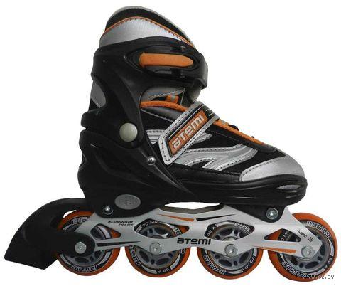 Ролики раздвижные AJIS-04 Boy comp-5 (р. 27-30; оранжевые) — фото, картинка