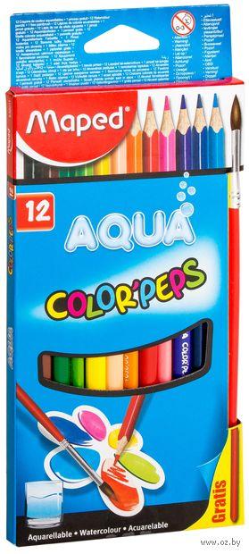 """Набор карандашей цветных акварельных """"Color Peps Aqua"""" (12 цветов)"""