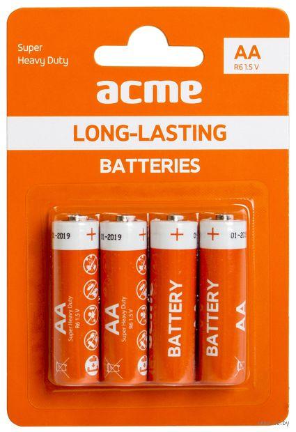 Батарея гальваническая солевая R6P AA (4 штуки)