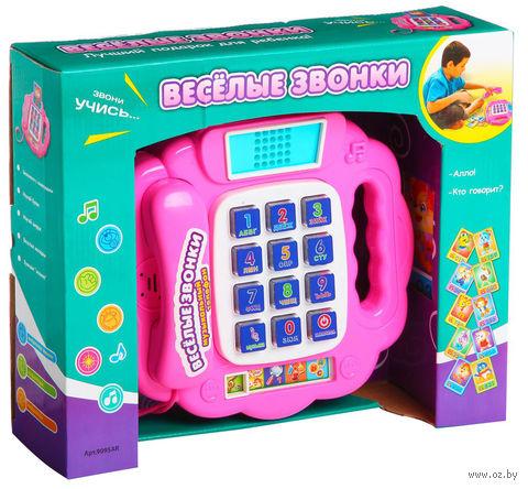 """Развивающая игрушка """"Музыкальный телефон. Веселые звонки"""" (с обучающими карточками; арт. Б43672)"""