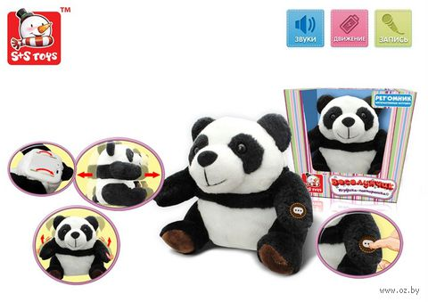 """Мягкая игрушка """"Панда-повторюшка"""" (со звуковыми эффектами) — фото, картинка"""
