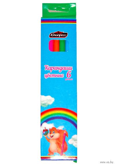 """Цветные карандаши """"Бельчонок"""" (6 цветов)"""