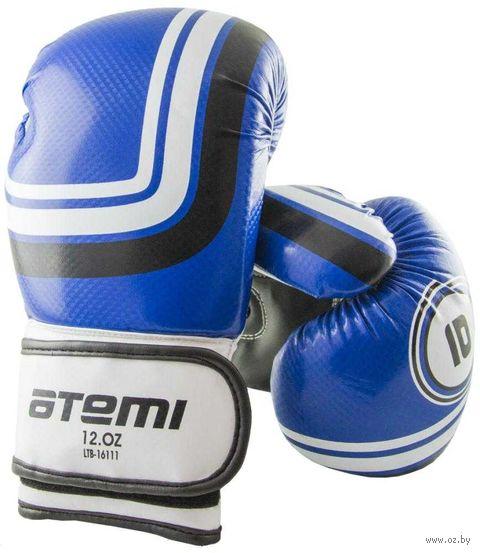 Перчатки боксёрские LTB-16111 (S/M; синие; 8 унций) — фото, картинка