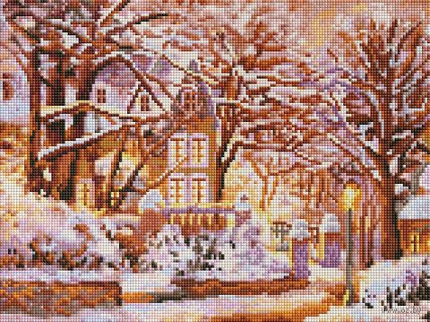 "Алмазная вышивка-мозаика ""Зимняя сказка"" (300х400 мм) — фото, картинка"