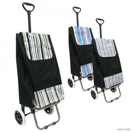 Сумка хозяйственная текстильная на колесиках с ручкой (101,5*37*32 см)