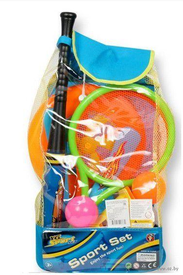 Спортивный игровой набор с бадминтоном и битой (в рюкзаке)