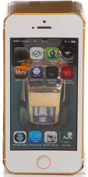 Автомобиль инерционный в коробке-смартфоне (арт. MY66-Q61) — фото, картинка