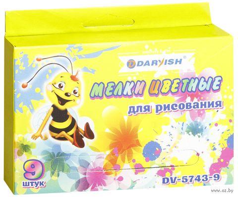 Мел цветной для досок (9 цветов; арт. DV-5743-9) — фото, картинка