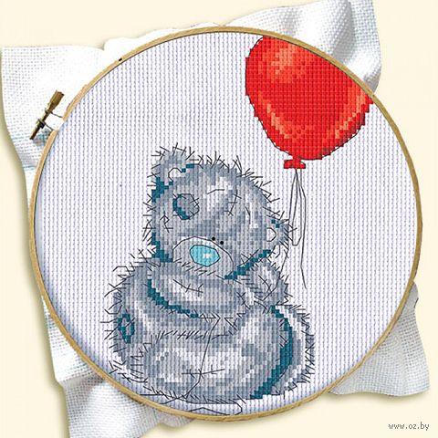 """Вышивка крестом """"Мишка с шариком"""" (120x160 мм) — фото, картинка"""