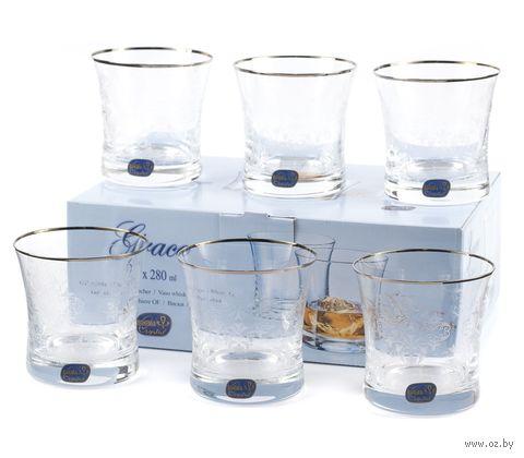 """Стакан для виски стеклянный """"Grace"""" (6 шт.; 280 мл) — фото, картинка"""