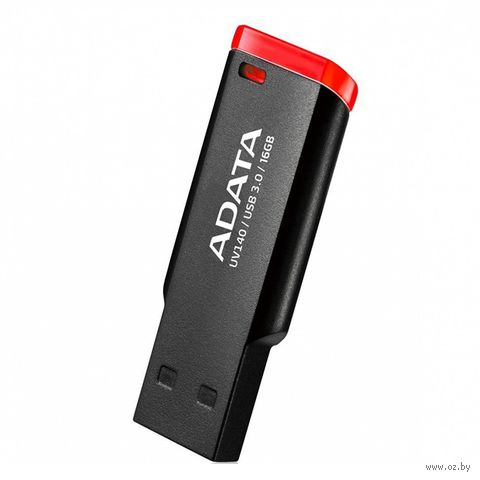 USB Flash Drive A-Data UV140 16Gb (black-red) — фото, картинка