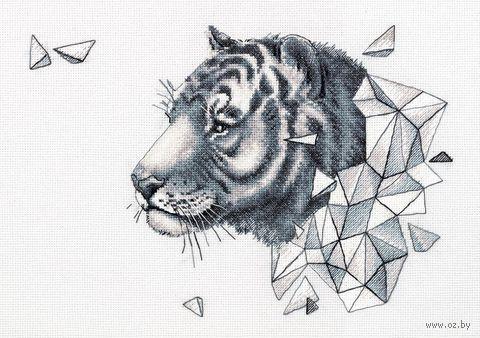 """Вышивка крестом """"Геометрия. Тигр"""" (375х265 мм) — фото, картинка"""