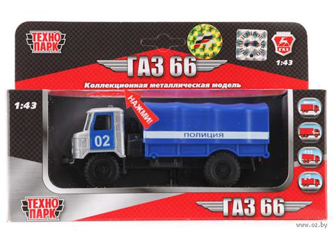 """Модель машины """"ГАЗ 66. Милиция"""" (масштаб: 1/43)"""