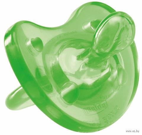 """Пустышка силиконовая ортодонтическая """"Physio Soft"""" (зеленая; арт. 00002713310000)"""