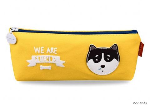 """Пенал """"We are Friends"""" (желтый; арт. 0909426) — фото, картинка"""