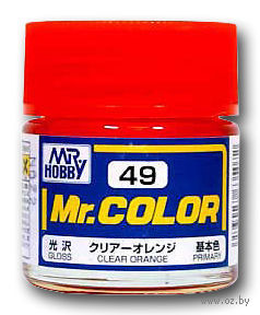 Краска Mr. Color (clear orange, C49)