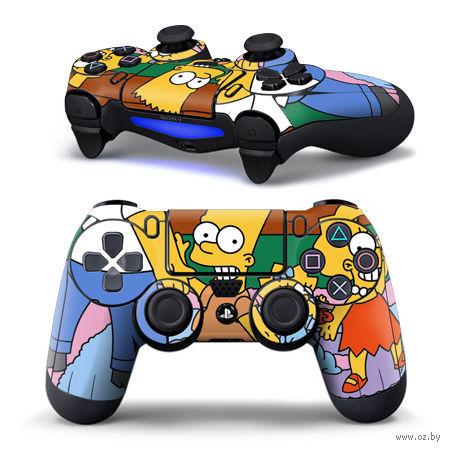 "Наклейка защитная для геймпада ""Simpsons"" (TN-PS4QB-0044) (PS 4)"