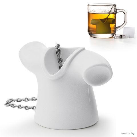 """Приспособление для заваривания чая """"Tea Shirt"""" (белая)"""