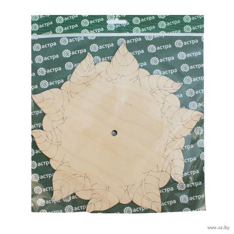 "Заготовка деревянная ""Циферблат. Роза"" (245 мм)"
