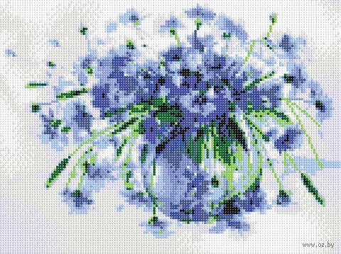 "Алмазная вышивка-мозаика ""Василёчки-васильки"" (300х400 мм; арт. 613-RS-R) — фото, картинка"