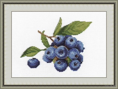 "Вышивка крестом ""Голубика"" (160х130 мм) — фото, картинка"