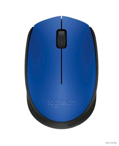 Беспроводная мышь Logitech Mouse M171 (черно/синяя) — фото, картинка