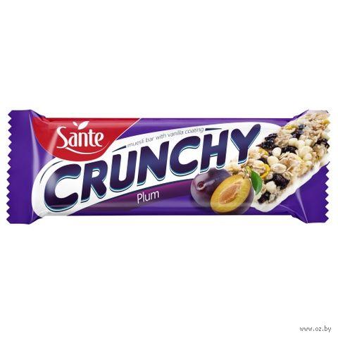 """Батончик глазированный """"Crunchy. Plum"""" (40 г) — фото, картинка"""