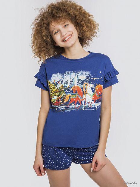 "Пижама женская ""562336"" (синий) — фото, картинка"
