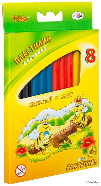 """Пластилин восковой """"Пчелка"""" (8 цветов) — фото, картинка"""