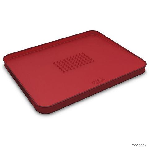 """Доска разделочная """"Cut&Carve Plus Large"""" (370х300х25 мм; двухсторонняя; красная) — фото, картинка"""