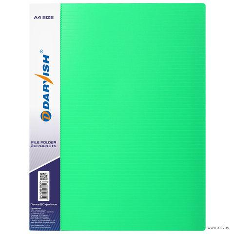"""Папка с файлами """"Darvish"""" (А4; 20 листов; зеленая; арт. DV05-10Р) — фото, картинка"""