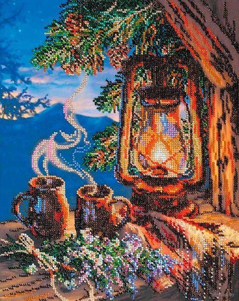 """Вышивка бисером """"Вечерний чай"""" (280х350 мм) — фото, картинка"""