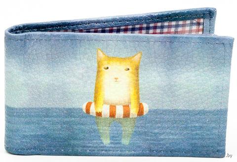 """Кредитница """"Котик в море"""" — фото, картинка"""