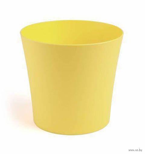"Кашпо ""Фиалка"" (12,5 см; желтое) — фото, картинка"