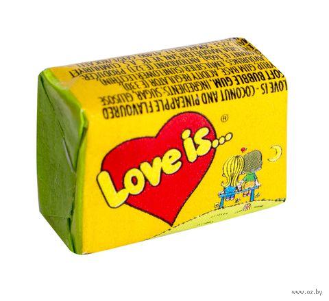 "Жевательная резинка ""Love Is. Кокос-ананас"" (4,2 г) — фото, картинка"