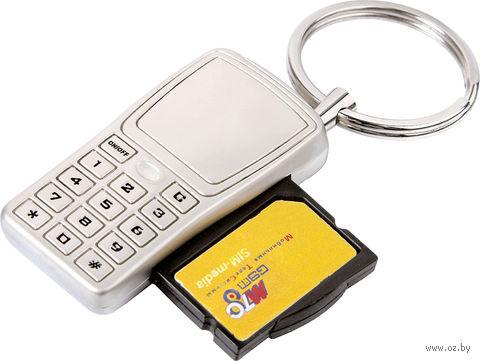 """Брелок """"Мобильный телефон"""" с отделением для хранения SIM-карт — фото, картинка"""
